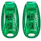 EverLightFX Luz LED para Bici Recargable USB (Pack de 2) de Apace - Luz Trasera Súper Brillante de Seguridad para Bicicleta - Luz para Correr, Caminar, Mascotas, Luz Intermitente, Luz Trasera con Clip