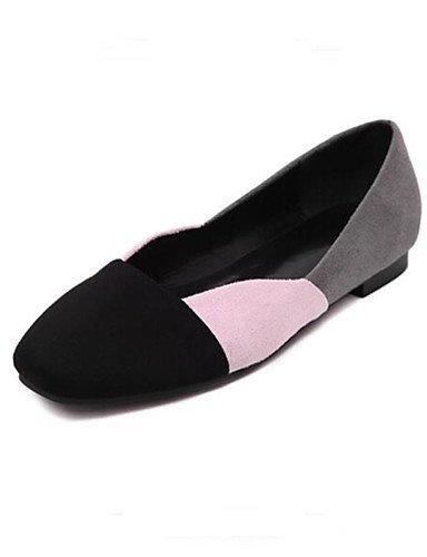 XAH@ Chaussures Femme-Extérieure-Noir-Talon Plat-Confort-Plates-Similicuir black-us5.5 / eu36 / uk3.5 / cn35