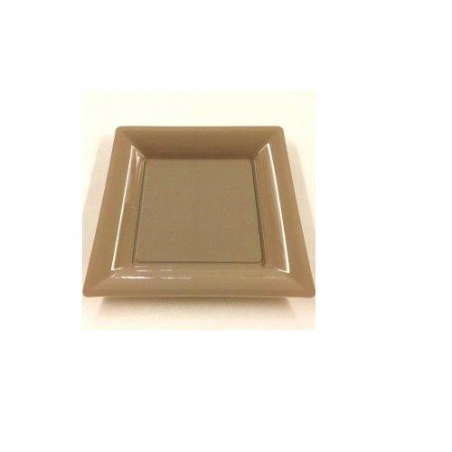 mapadis Assiette Plastique carrée Argile 23x23cm P8