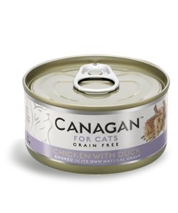 Canagan for cats cibo umido per gatti grain-free da 75 gr - pollo con anatra - chicken with duck