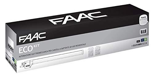 Faac Eco Kit Green Automazione Elettromeccanica Motore 230V per cancelli a battente con larghezza max della singola anta 2,3 mt Safe zone 105632445
