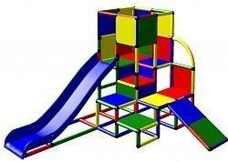 Preisvergleich Produktbild Moveandstic 6009 - Spielturm JULIAN mit 2 Rutschen