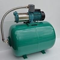100 Liter Hauswasserwerk Pumpe MH1300 INOX Edelstahl 1300Watt Fördermenge: 6000l/h - 5 Laufräder aus Edelstahl - robuste und rostfreie Edelstahlwelle, integrierter thermischer Motorschutzschalter + Druckschalter.