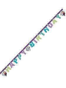 Procos - Guirnalda Happy Birthday, Frozen Snowflakes, multicolor, PR86861