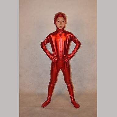 Schädel Kostüm Ninja - HAOBAO Zentai Anzüge Ninja Fest/Feiertage Halloween Kostüme Rot einfarbig Zentai Kostüme Kind, 10 * 5