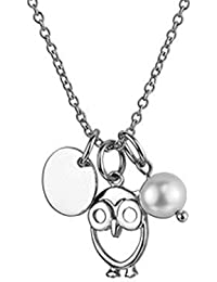 Collier AE finesse, 925 Silber - Sterling Silber, 3 Anhänger / Perle