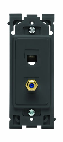 Leviton Renu QuickPort Telefon/TV-Einsatz Onyx Black Onyx-tv
