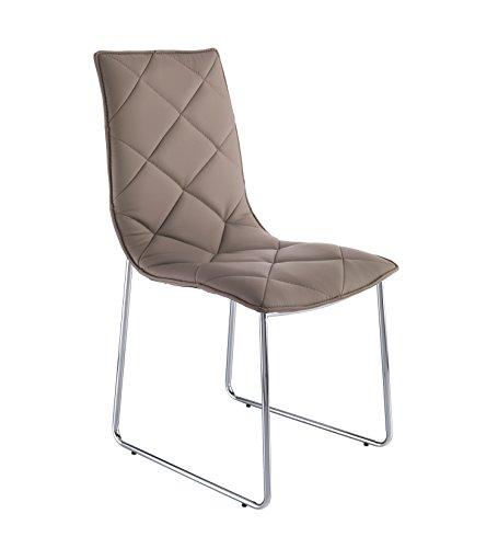 WINK DESIGN -Guaynabo - pièce de 4 chaises tourtelle - Simili-Cuir
