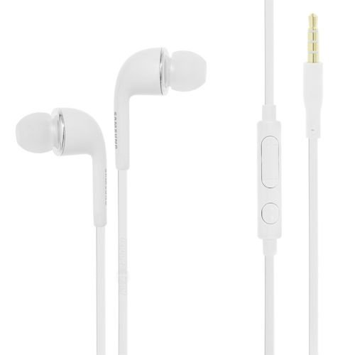Samsung Stereo Headset cuffia EHS64 bianco per Galaxy S3 I9300, Galaxy Y S5360, Galaxy Ace S5830, Galaxy W I8150, Galaxy Nexus I9250, Galaxy Note N7000 I9220, Wave 3 S8600 in bulk pack