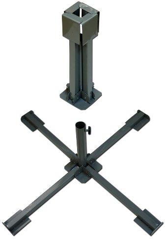 Schirmständer Klappbar für Betonplatten Ständer Sonnenschirm Ampelschirm Schirme