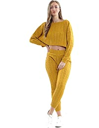 Strict Ladies Womens Baggy Loose Fit Casual V-neck Lounge Wear Suit 2 Piece Co-ord Set Clothing, Shoes & Accessories