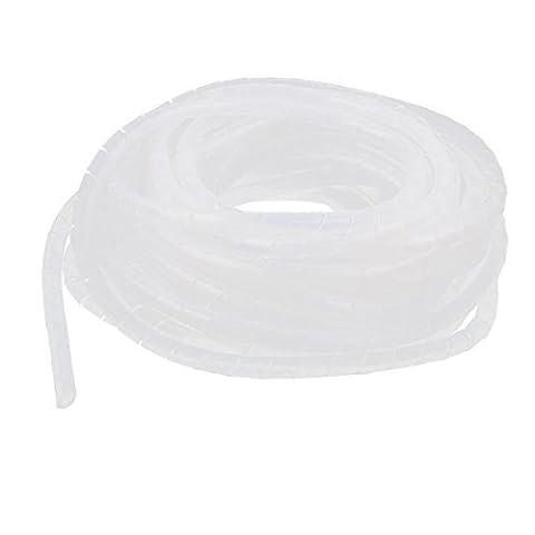 DealMux 3pcs 10Meters 8mm x 6mm weiße flexible Draht Spiralhülle Sleeving Band