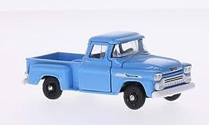 Chevrolet Apache Step Side, bleu clair, 1958, voiture miniature, Miniature déjà montée, M2 Machines 1:64