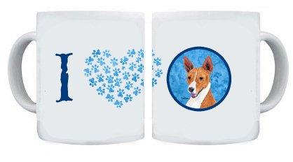 Carolines Treasures SC9124BU-CM15 Basenji blau Becher Kaffeetasse aus Keramik zum Aufwärmen in der Mikrowelle, 15 (Treasures Keramik-becher)