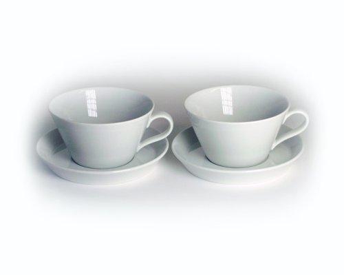 Arzberg Form Tric 2er Set Cafè-au-lait-Tassen 0,35Ltr. weiß Au Lait-set