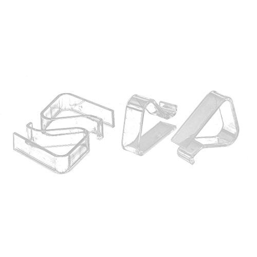 Sourcingmap Kunststoff-Tischdeckenklammer, 1 cm - 3 cm, 4 Stück