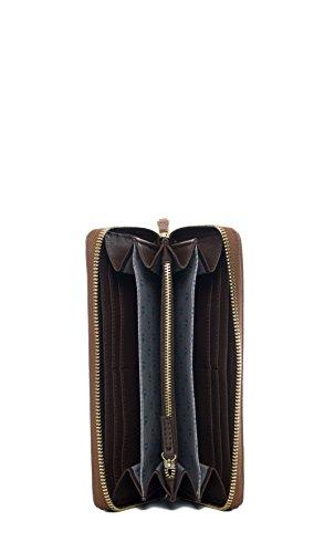 Trussardi Jeans | Portafoglio Trussardi Jeans donna zip around colore cuoio - 75P551XX, Cuoio Cuoio