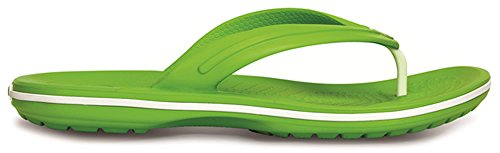 crocs Unisex-Erwachsene Crocband Flip Pantoffeln Grün (Volt Green/White 394)