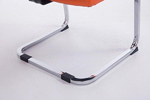 CLP XXL Freischwinger-Stuhl mit Armlehne ANUBIS belastbar bis 260 kg gepolstert orange - 5