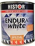 Histor Endura Weiss Spezial weiß Hochglanz 1 liter für innen/außen lösemittelhaltig ist ein aromatenfreier, sehr gut deckender Weißlack mit hervorragenden Verlaufseigenschaften