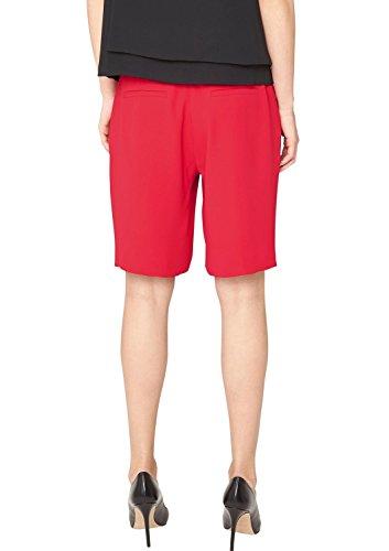 s.Oliver Premium In Crêpequalität - Short - Femme Rouge - Rot (mystic red 3350)