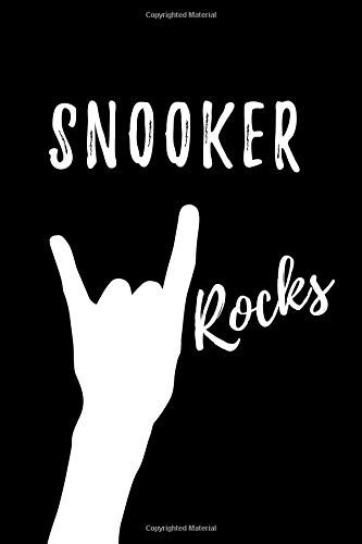 Snooker Rocks: Blank Lined Pattern Funny Journal/Notebook as Birthday, Christmas, Game day, Appreciation or Special Occasion Gifts for Snooker Lovers