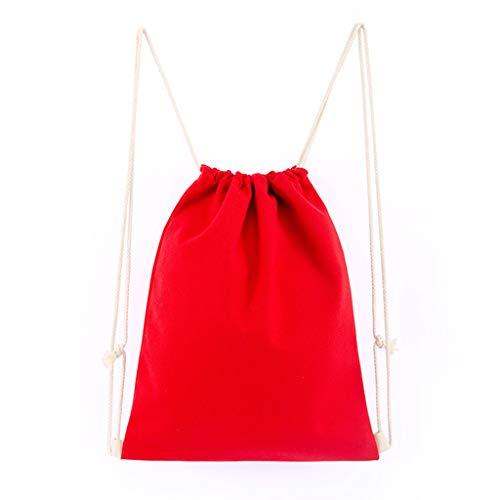 Cinch-kordelzug Schulter Tasche (Senoow Leinwand Kordelzug Rucksack String Gym Sack Tasche Sport Cinch Sack Für Männer Frauen Kid School Travel)
