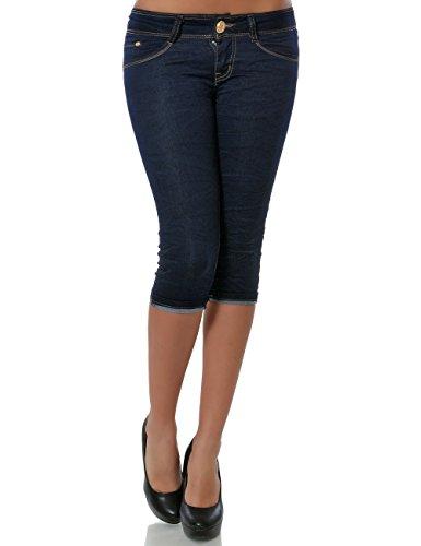 Damen Jeans Capri-Hose Bermuda Kurze Hose (weitere Farben) No 15548 Blau