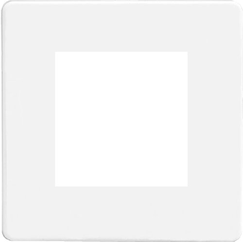 Varilight Screwless Premium White Datagrid Plate (2 Grid Spaces) - Euro-office-möbel