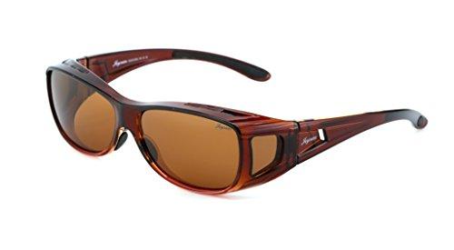 Joysun polarisierte LensCovers Sonnenbrille Unisex tragen über Korrekturbrille 8002