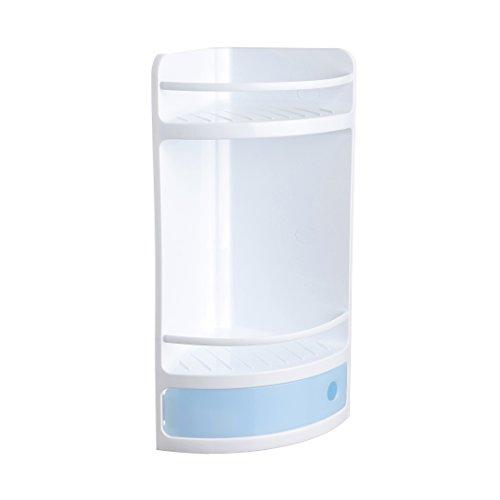TATAY 4432000 - Mueble de baño rinconero con cajón azul, 20 x 20 x 50 cm