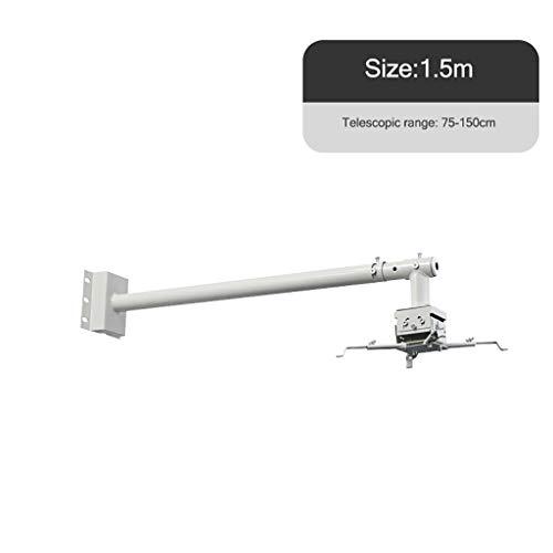 Bxlyq Projektorhalter, Deckenwandhalterung Wandhalterung Universalhalterung Teleskopauszug 1,2 M / 1,5 M (Size : 1.5M)