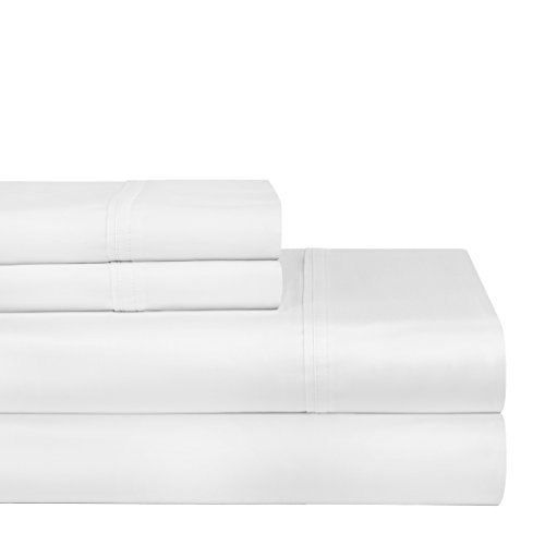 Pointehaven 400 TC Deep Pocket 100-Percent Pima Cotton Sheet Set, White, Twin XL by Pointehaven