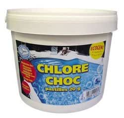 Chlore Choc Pastilles 20g 5kg - ECOGENE