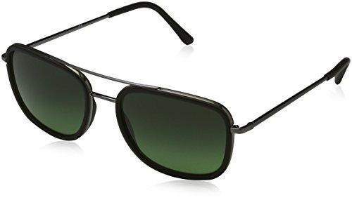 Von Burberry Herren Für Sonnenbrille (BURBERRY Unisex Sonnenbrille BE3085Q, Grau (Gestell: Brushed Gunmetal Grey, Gläser: Grün-Verlauf 10083Y), Medium (Herstellergröße: 54))