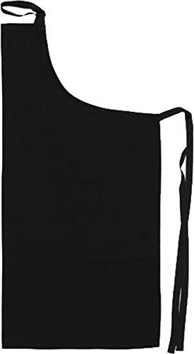 dennys-grembiule-senza-pettorina-ospitalita-in-policotone-da-chef-kitchen-wear-tasca-colore-nero