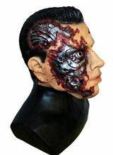 n TM 619219293204Full Head Latex Cyborg Man Roboter Maske Arnie Arnold Android Kostüm Zubehör von Coopers Fancy Dress, Unisex, ONE SIZE (Android Kostüme)