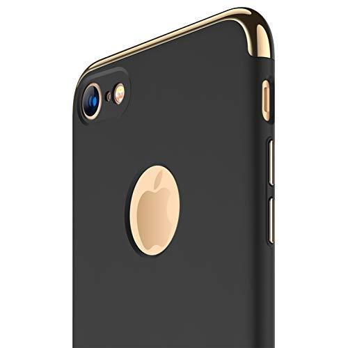 RANVOO Funda iPhone 7, 3 en 1 Anti-Scratch Anti-Huella Dactilar a Prueba de Choque Marco Electroplate con Superficie Antideslizante Cubierta Excelente Agarre el Caso para el iPhone 7, [Logo out]