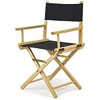 REGIESTUHL Stuhl aus Holz Campingstuhl (SCHWARZ)