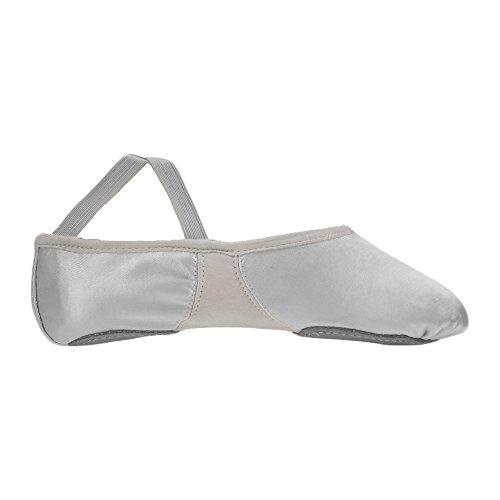 Ballet Starlite Flexi Sola Divisão Sapatos Cetim De Branca Bw851q1