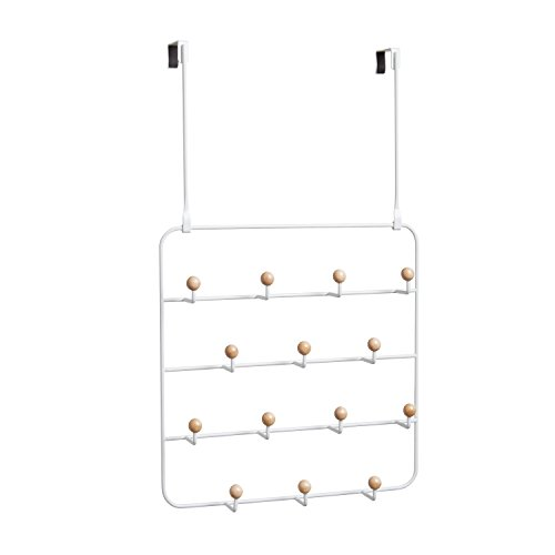Umbra Otd Multi-Use White Estique multifunktionale Türgarderobe weiß Metall (60,3 x 36,2 x 10,8 cm)