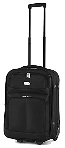 Expandable Easyjet Small Trolley Case Hand Luggage Cabin Approved Suitcases Fits Easyjet/BA Cabin Carry On Restrictions - H55 x W37 x D24cm (Cabin 20