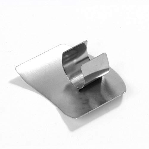 er Protector Kitchen Cut Meat Vegetables Hand Finger Guard silver ()