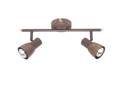 Brilliant 39513/56 Lava - Lámpara de techo con 2 focos, color cobre