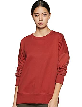 Amazon Brand - Symbol Women's Cotton Sweatshirt (AW18WNSSW36_Bossa Nova_X-Small)