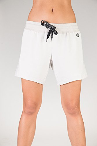 Hurley Damen Shorts Dri-Fit Shorts (Weiß Hurley Shorts)