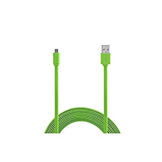 Aiino Micro USB zu USB Ladekabel Datenkabel + Synchronisation 1,5m Flat - Grün