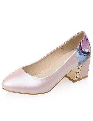 WSS 2016 Chaussures Femme-Bureau & Travail / Décontracté-Bleu / Rose / Blanc-Gros Talon-Confort / Bout Pointu-Talons-Polyuréthane pink-us5 / eu35 / uk3 / cn34