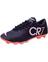 huge selection of dfa47 9de55 Trady Ultimate CR7 Juventus Ronaldo Studs Black Football Shoes  Studs  Shoes for Mens
