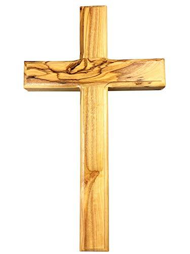 Motivationsgeschenke Kruzifix Kreuz Olivenholz aus Jerusalem Wandkreuz 30 cm
